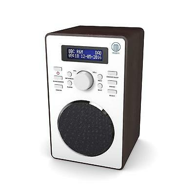 Portable DAB FM Digital Radio, Bluetooth & Alarm Clock - Walnut