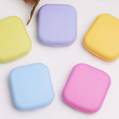 Hot Mini Square Contact Lens Case Box Travel Kit Easy Carry Mirror Container