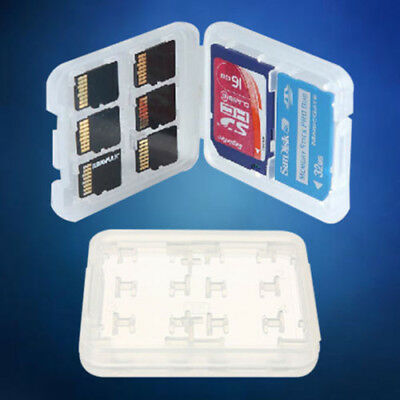 2Pcs 8 slots Micro SD TF SDHC MSPD Memory Card Storage Holder Plastic Case Hot