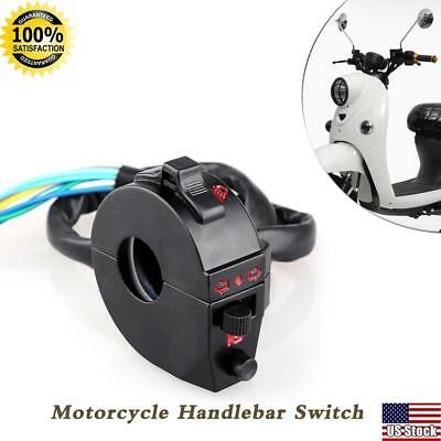 Motorcycle Handlebar Horn High/Low Beam Turn Signal Switch Control L+ R Side
