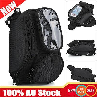 Motorcycle Magnetic Fuel Tank Bag Mobile Phone GPS Holder Zipper Bag Pouch Tool