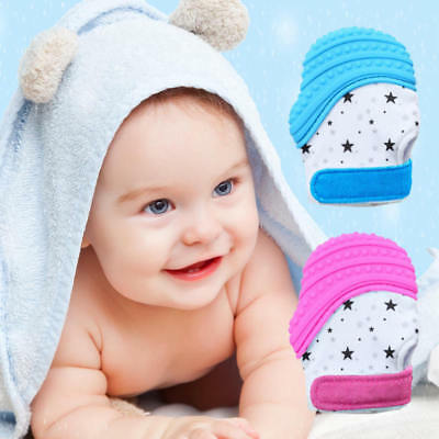 1pcs Teething Mittens Teether Toy for Baby, Infant Teething Mitt Set MUJ