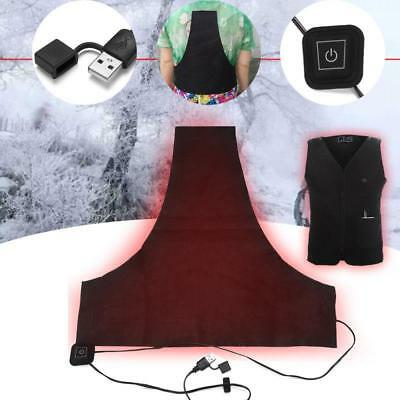 Electric Heating Pads Cloth Thermal Heat Vest Jacket Outdoor Mobile Warming Gear