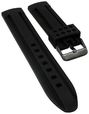 S.Oliver Watch Strap Silicone Soft Black 21mm for So-2518-pq