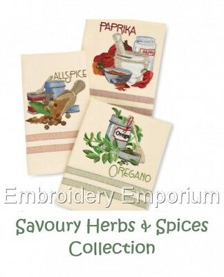 Savoury Herbs & Spices Collection - Machine Embroidery Designs On Cd