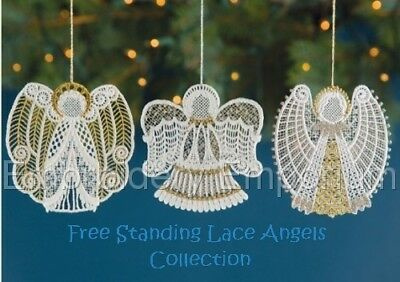 Free Standing Lace Angels Collection - Machine Embroidery Designs On Cd Or Usb