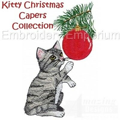 Kitty Christmas Capers Collection - Machine Embroidery Designs On Cd