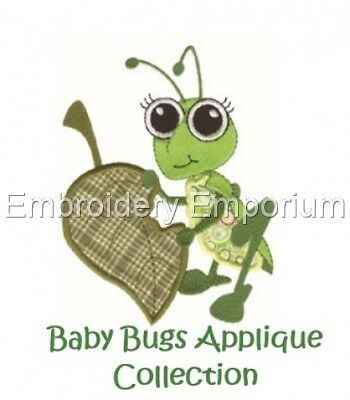 Baby Bugs Applique Collection - Machine Embroidery Designs On Cd