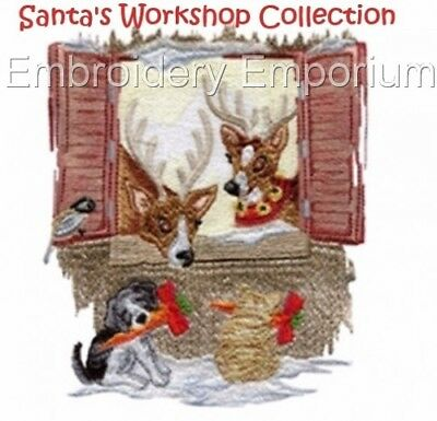 Santa's Workshop Collection - Machine Embroidery Designs On Cd