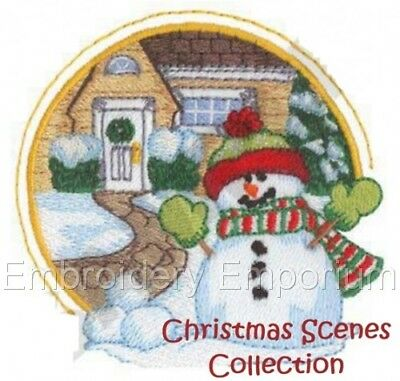 Christmas Scenes Collection - Machine Embroidery Designs On Cd