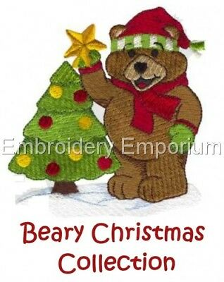 Beary Christmas Collection - Machine Embroidery Designs On Cd