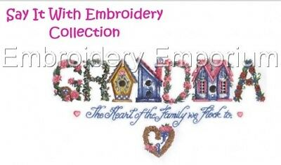 Say It With Embroidery Collection - Machine Embroidery Designs On Cd