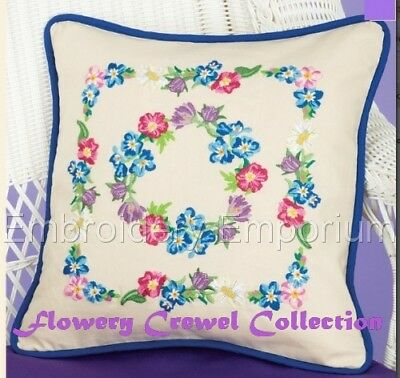 Flowery Crewel Collection - Machine Embroidery Designs On Cd