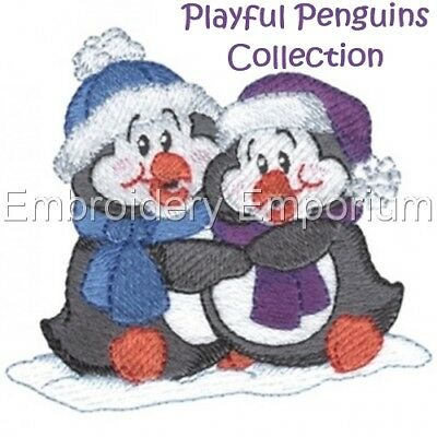 Playful Penguins Collection - Machine Embroidery Designs On Cd