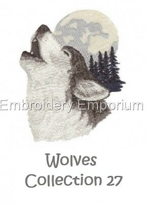 Wolves Collection 27 - Machine Embroidery Designs On Cd