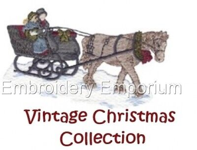 Vintage Christmas Collection - Machine Embroidery Designs On Cd