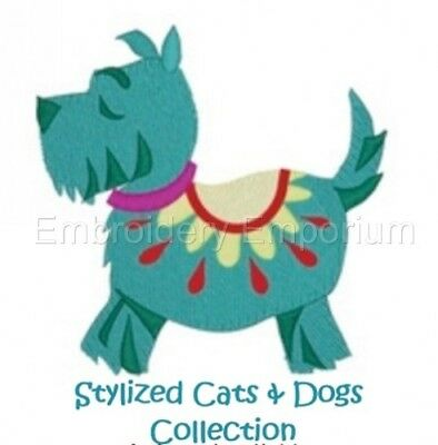 Stylized Cats & Dogs Collection - Machine Embroidery Designs On Cd