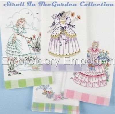 Stroll In The Garden Collection - Machine Embroidery Designs On Cd