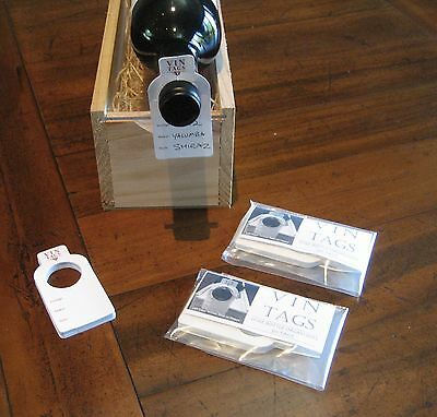 Wine ID tags, Vin Tags 2 packs of 50 wine bottle tags. Organise your collection