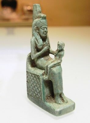 Zurqieh - As10012- Ancient Egyptian Large Faience Isis, Stunning. 600 - 300 B.c