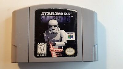 Star Wars Shadows of The Empire Original Nintendo N64 game 100% Authentic Tested
