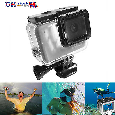 Underwater Waterproof Diving Housing Case Cover for GoPro Hero7 Silver/White