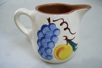 Antique Collectible Stangl Fruit Design Pottery Pitcher Coffee Creamer