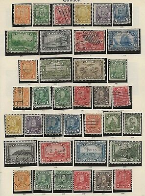 Canada  Used G.v. Collection 1928/35 Complete  Good/Very Fine  100 Stamps