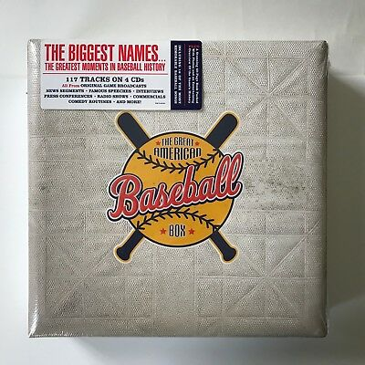 The Great American Baseball Box (4×CD, 2005, Music/Broadcasts, NEW & SEALED)