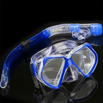 New Dark Blue Scuba Diving Equipment Dive Mask + Dry Snorkel Set Scuba DNKR