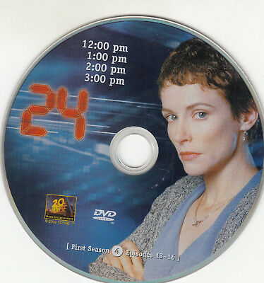 24 First Season 1 Disc 4 Replacement Dvd Disc Only