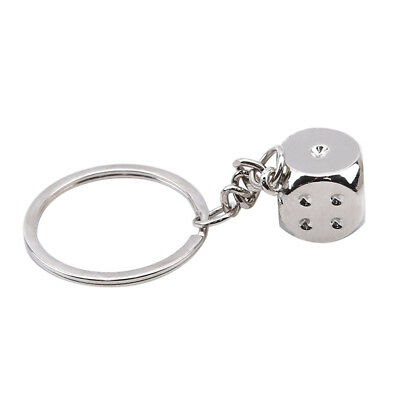 Motorcycle Alloy Metal Dice Keyfob Keyring Keychain Key Chain Ring 6A