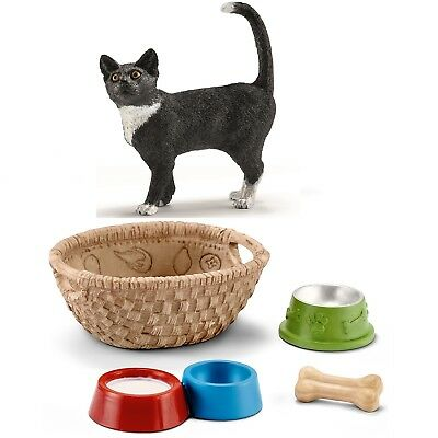 Schleich - 13770 Cat, Standing +42293 Feed for Dogs & Cats