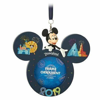 Disney Parks 2019 Mickey Mouse Disneyland Icon Frame Ornament