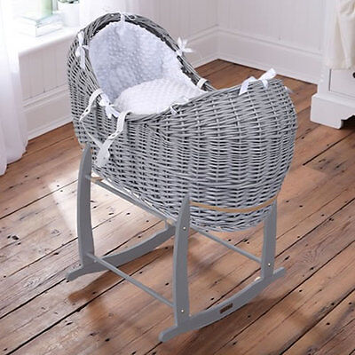 Brand new Clair de lune grey noah pod in white dimple with grey rocking stand