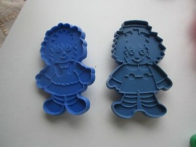 Bobbs Merrill Blue Raggedy Ann and Andy Cookie Cutters