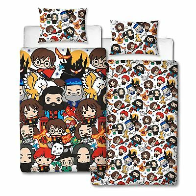 Harry Potter Charm Single Duvet Cover New Reversible Kids Bedroom