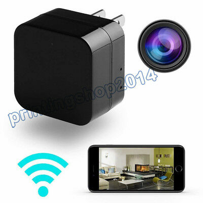 Full HD 1080P Mini Spy Motion Hidden Camera USB Wall Charger Power Adapter WiFi
