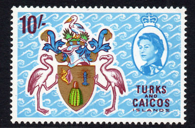Turks & Caicos Islands 10/- Stamp c1967 Unmounted Mint (1075)