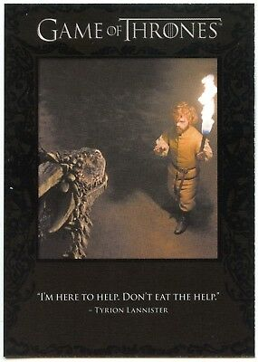 Tyrion Lannister #Q51 Quotable Game Of Thrones S6 Rittenhouse Chase Card (C2282)