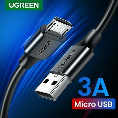 UGREEN Micro USB Cable 2.4A Fast Charging Data Cable for Huawei Black / White