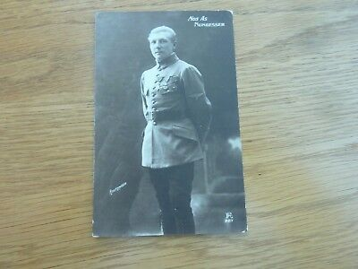 Ww1 Original Photo Postcard French Air Ace Charles Nungesser Used