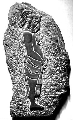 MAYA DIGNITARY STONE RELIEF CARVING by Rod Rogers