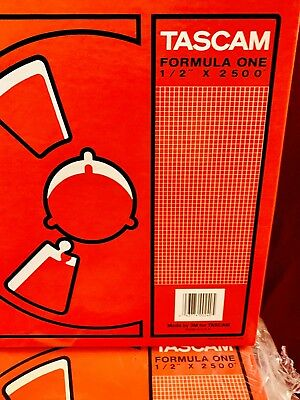 """New TASCAM Formula One 1/2"""" x 2500"""" Audio Tape Made by 3M Sealed in Pkg"""