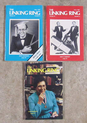 Three 1987 LINKING RING magazines for magicians. Learn step-by-step MAGIC TRICKS