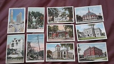 40 x Old & Vintage postcards of the USA - Concord New Hampshire, California, Mai