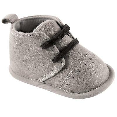 Luvable Friends Baby Boy 11823 Pull On Sneakers, Gray, Size 12-18 Months