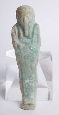 Ancient Egyptian Blue Faience Ushabti c.635-30 BC.