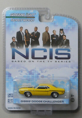 1970 Yellow Dodge Challenger NCIS HOLLYWOOD GREENLIGHT DIECAST 1/64