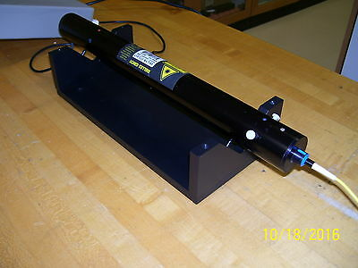Yellow Fiber Coupled Helium Neon Laser System >4 mW! New Old Stock!